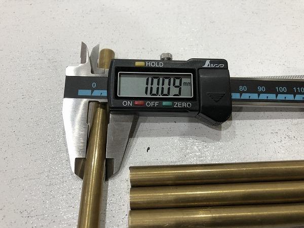 【4本セット】真鍮棒 φ10mm×長さ150mm  真鍮丸棒 端材 工作 ハンドメイド アクセサリー【スマートレター発送 180円】_画像4