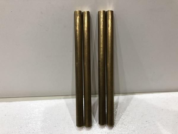 【4本セット】真鍮棒 φ10mm×長さ150mm  真鍮丸棒 端材 工作 ハンドメイド アクセサリー【スマートレター発送 180円】_画像2
