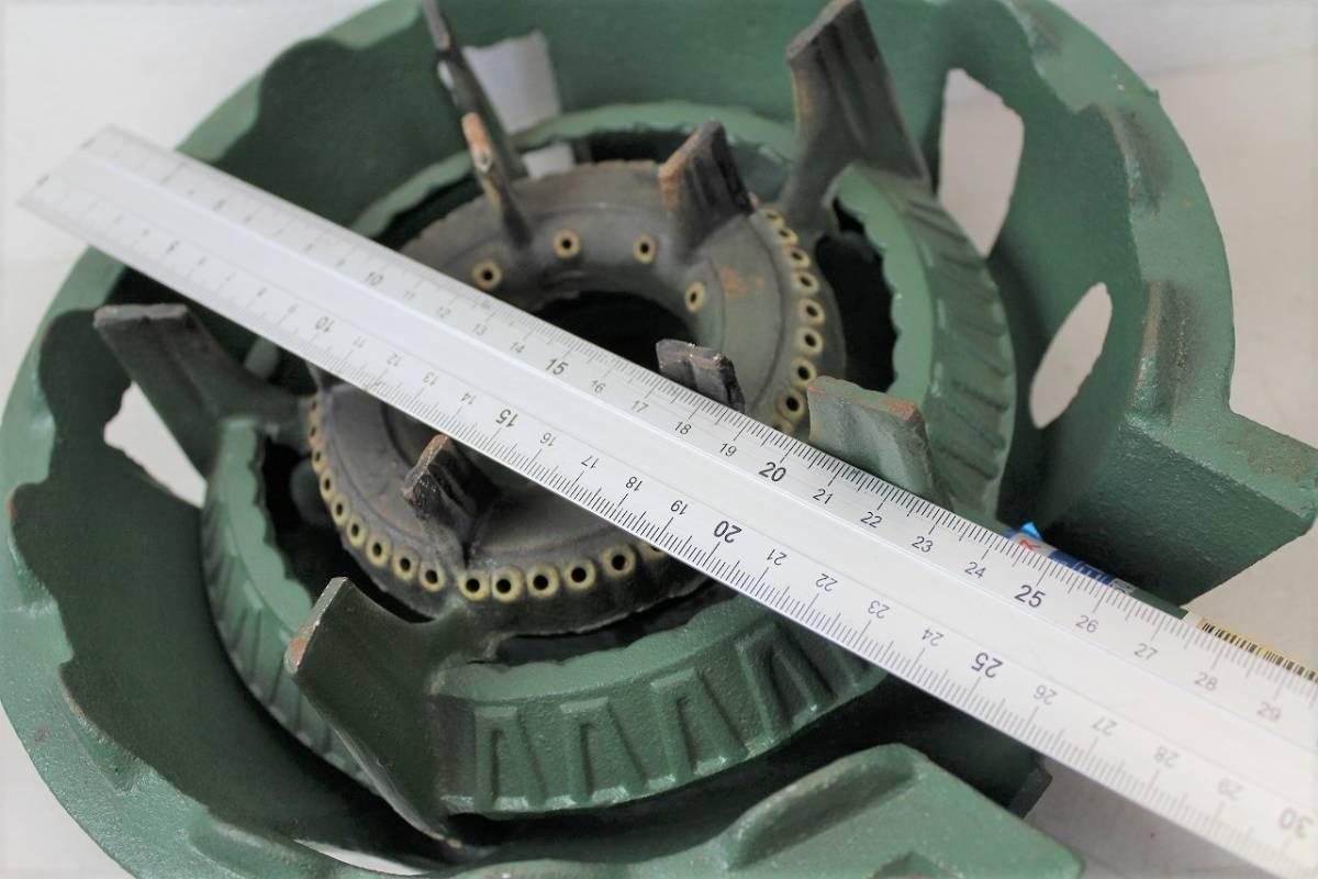 【ト静】プロパンガス LPガス SHOEI 鋳物コンロ 業務用ガス台 調整器 富士工器 RSA5 中古 現状品 動作未確認 GC029GCY86_画像10