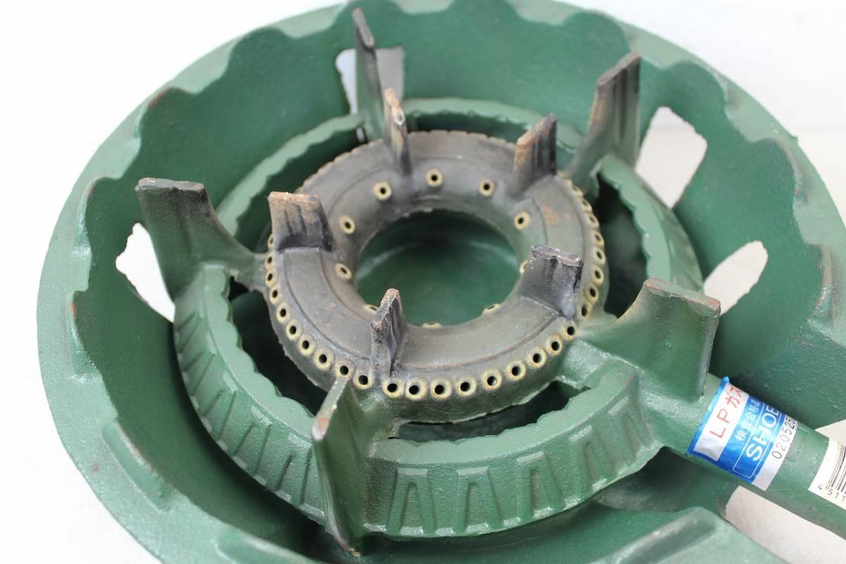 【ト静】プロパンガス LPガス SHOEI 鋳物コンロ 業務用ガス台 調整器 富士工器 RSA5 中古 現状品 動作未確認 GC029GCY86_画像3