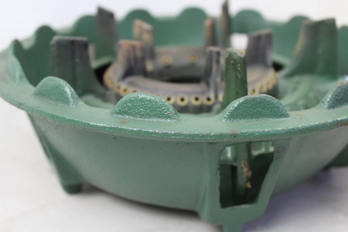 【ト静】プロパンガス LPガス SHOEI 鋳物コンロ 業務用ガス台 調整器 富士工器 RSA5 中古 現状品 動作未確認 GC029GCY86_画像9