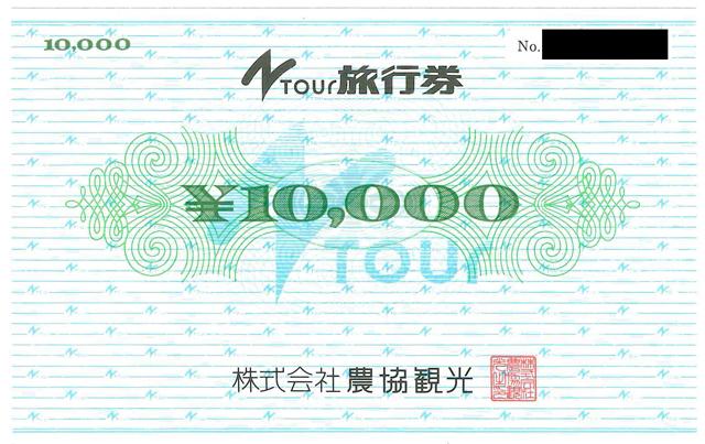 Ntour 農協観光旅行券10000円×2枚 20000円分_画像1