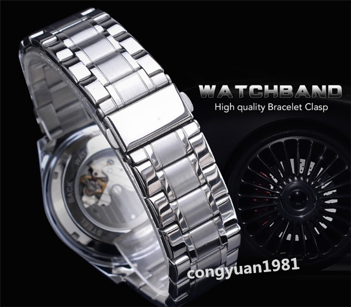 ★メンズ高級腕時計 42mm 機械式 自動巻 多機能 カレンダー エネルギー表示 ステンレス 紳士ウォッチ 夜光 防水 ホワイト_画像7