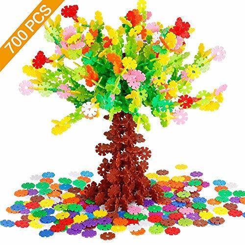 Tebrcon 約700ピース おもちゃ ブロック 子供 積み木 知育玩具 セット 男の子 女の子 はめ込み 立体 パズル_画像1