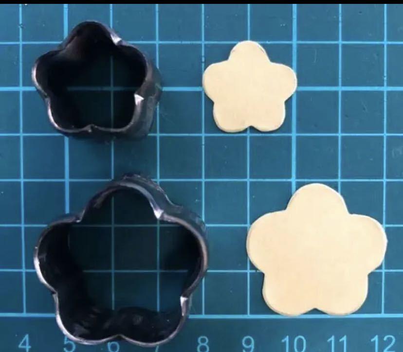 専用 花びら2センチの抜き型  オーダーメイド レザークラフト