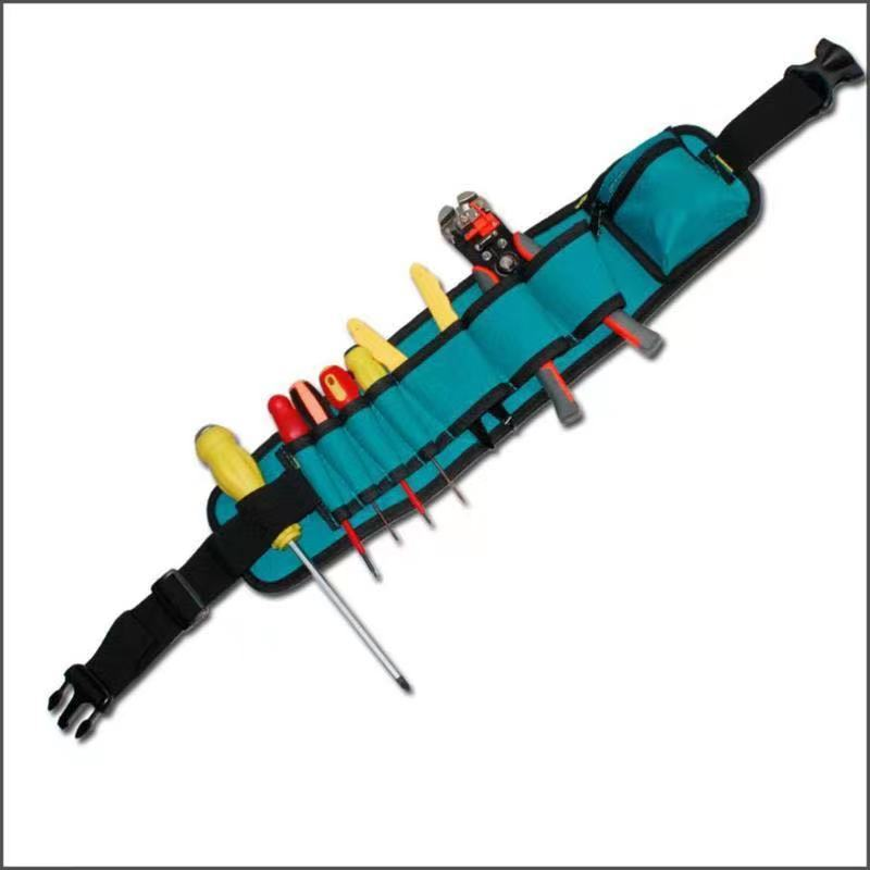 工具差し 大容量 ウエストポーチ 工具腰袋 工具 収納 多機能 道具袋 ドライバー入れ レンチ入れ 工具入れ DIY 道具箱 工具箱_画像4