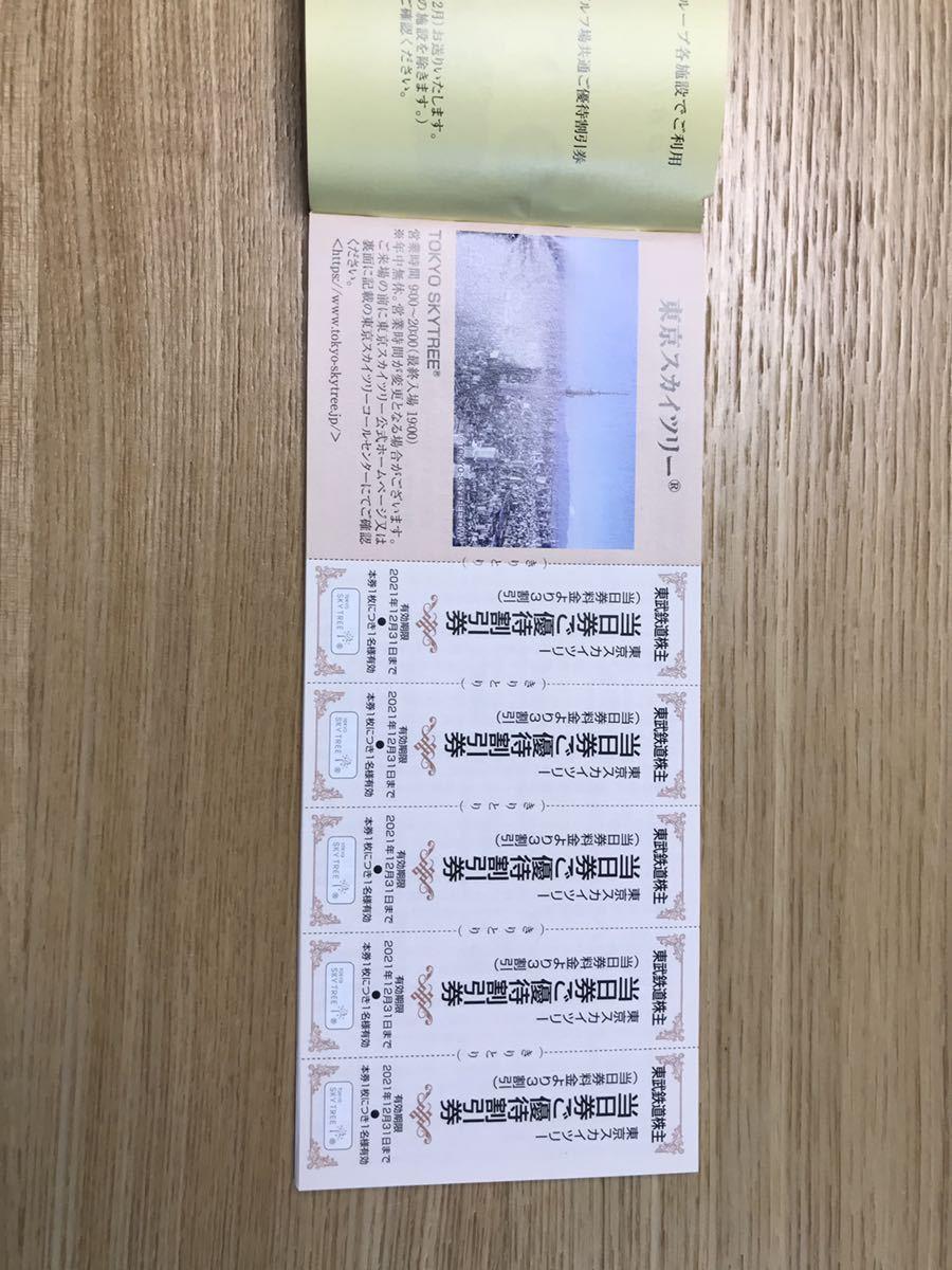 ★新品 未使用 東武鉄道 東武動物公園 株主優待 割引券 2021年12月31日まで 株主ご優待券 レジャー★_画像7