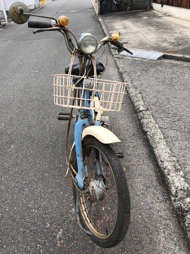 「HONDA ホンダ LITTLE HONDA リトルホンダ P25 モペット モペッド 自転車バイク レストアベース 部品取り 現状 109-22」の画像3