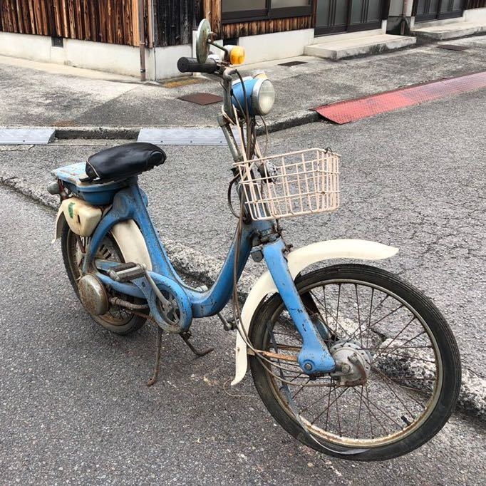 「HONDA ホンダ LITTLE HONDA リトルホンダ P25 モペット モペッド 自転車バイク レストアベース 部品取り 現状 109-22」の画像2