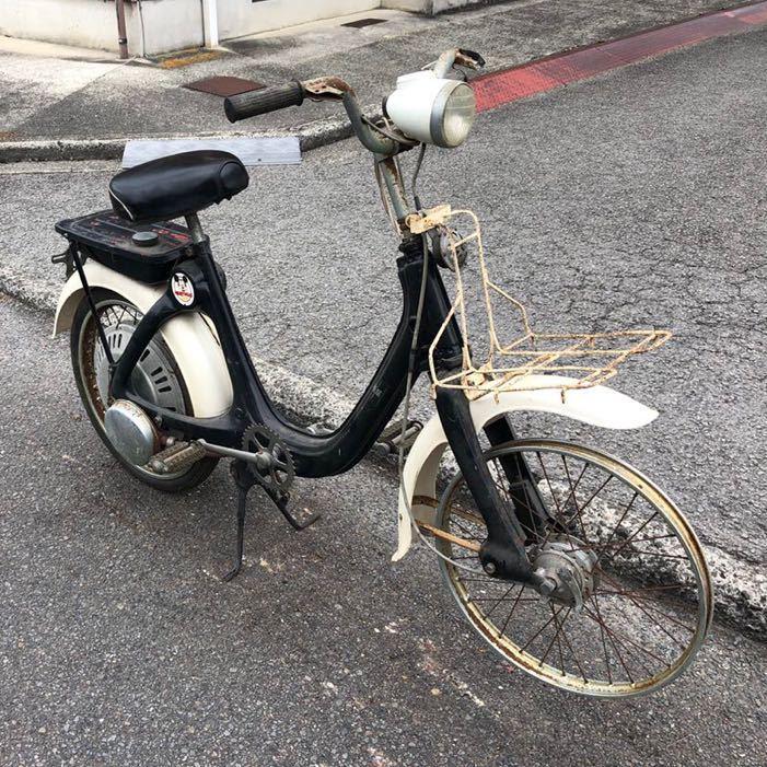 「HONDA ホンダ LITTLE HONDA リトルホンダ P25 モペット モペッド 自転車バイク レストアベース 部品取り 現状 109-21」の画像2