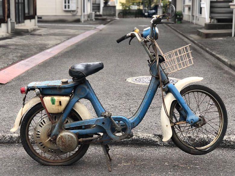 「HONDA ホンダ LITTLE HONDA リトルホンダ P25 モペット モペッド 自転車バイク レストアベース 部品取り 現状 109-22」の画像1