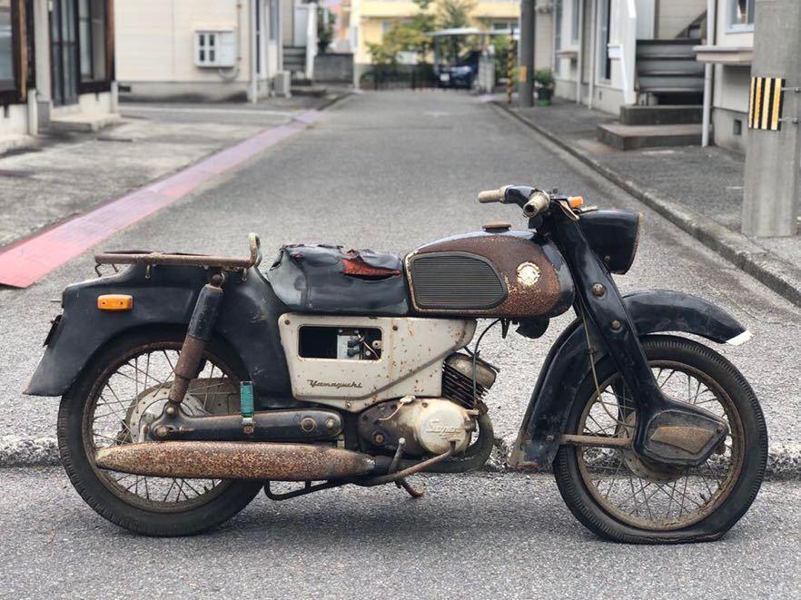 「YAMAGUCHI ヤマグチ 山口 スーパーツイン ST-125 走行距離13198km レストアベース 部品取り 現状 109-1」の画像1