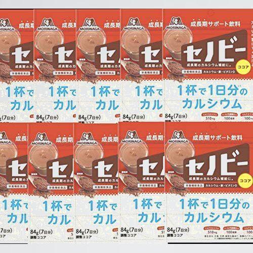 新品 未使用 セノビ- 森永製菓 4-8S [栄養機能食品] 1杯で1日分のカルシウム 84g袋×10袋入_画像1