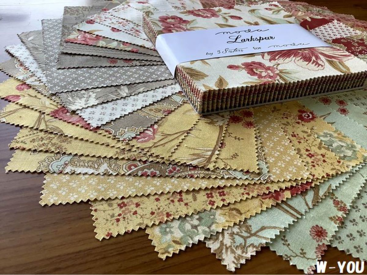 USAコットン moda チャームパック Larkspur パッチワークキルト ハンドメイド