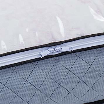 グレー 薄型コンパクト アストロ 羽毛布団 収納袋 シングル用 グレー 不織布 活性炭消臭 コンパクト 171-41_画像5