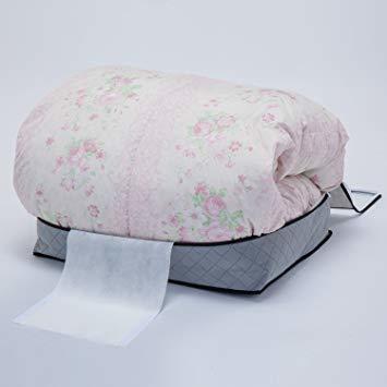 グレー 薄型コンパクト アストロ 羽毛布団 収納袋 シングル用 グレー 不織布 活性炭消臭 コンパクト 171-41_画像3