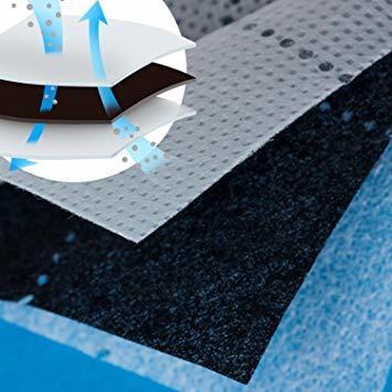 グレー 薄型コンパクト アストロ 羽毛布団 収納袋 シングル用 グレー 不織布 活性炭消臭 コンパクト 171-41_画像6