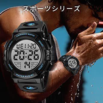 01.ブルー 腕時計 メンズ デジタル スポーツ 50メートル防水 おしゃれ 多機能 LED表示 アウトドア 腕時計_画像5