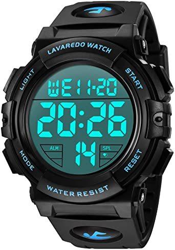 01.ブルー 腕時計 メンズ デジタル スポーツ 50メートル防水 おしゃれ 多機能 LED表示 アウトドア 腕時計_画像1