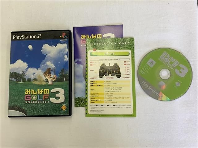 21-PS2-623 プレイステーション2 みんなのゴルフ3,4 ゴルフルGOLF ゴルフパラダイス 4本セット 動作品 PS2 プレステ2
