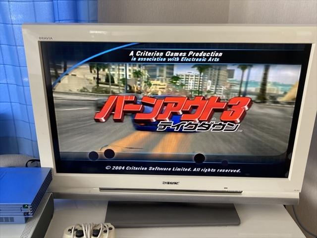21-PS2-648 プレイステーション2 バーンアウト3 テイクダウン 街道バトル セット 動作品 PS2 プレステ2
