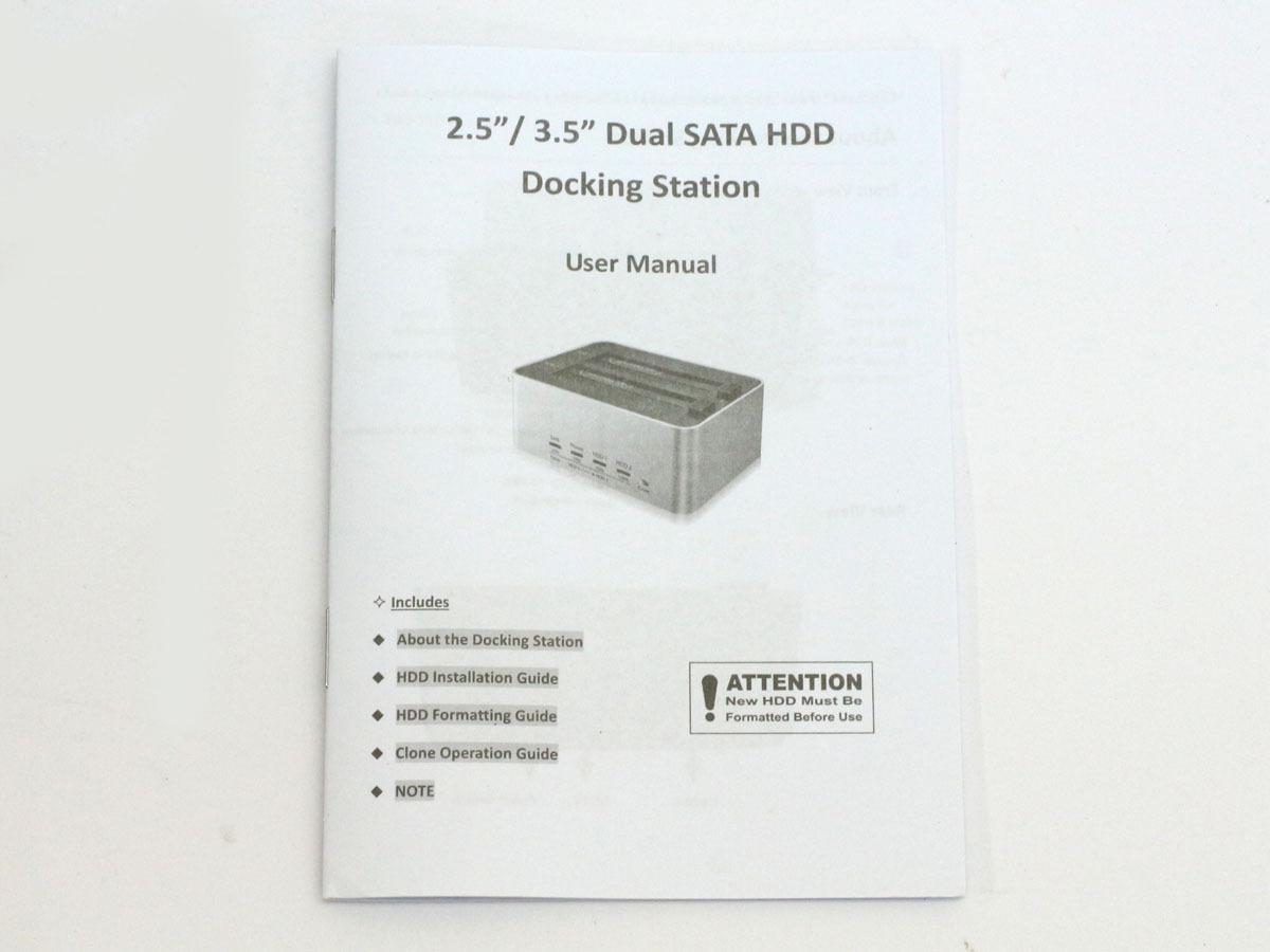 【検品開封/未使用】玄人志向 オリジナル SSD/HDDケース スタンド シルバー KURO-DACHI/CLONE/U3 2台搭載 2.5型&3.5型SATA USB3.0接続 ①_画像10