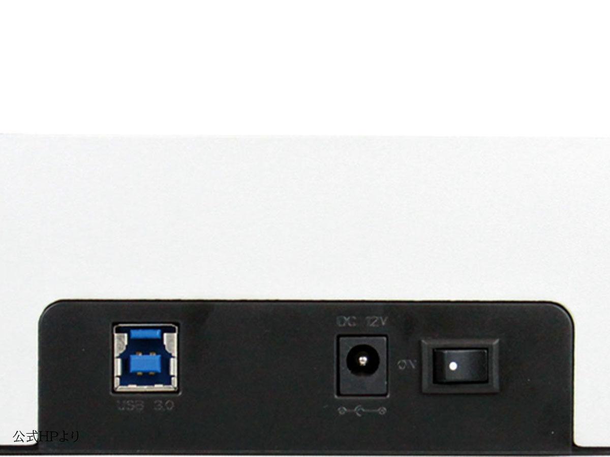 【検品開封/未使用】玄人志向 オリジナル SSD/HDDケース スタンド シルバー KURO-DACHI/CLONE/U3 2台搭載 2.5型&3.5型SATA USB3.0接続 ①_画像2