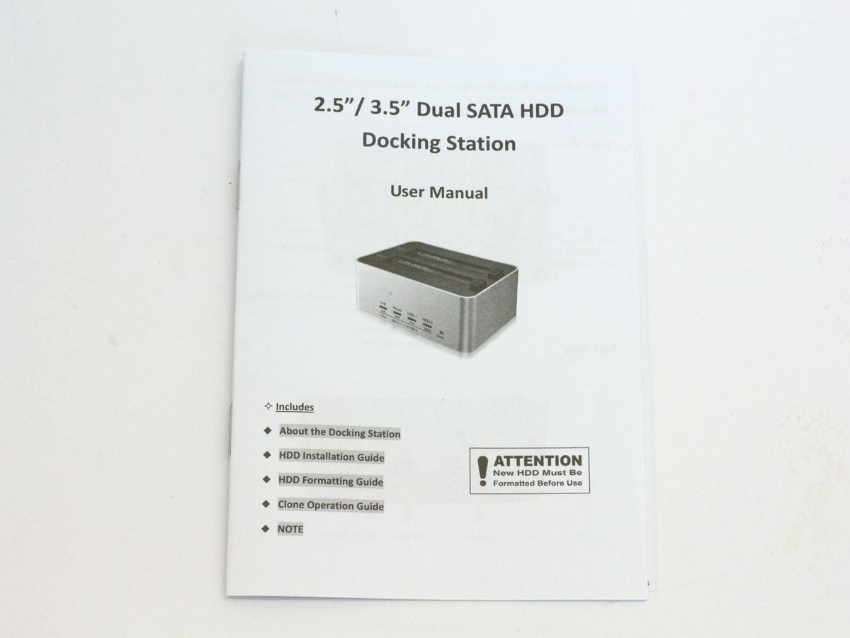 【検品開封/未使用】玄人志向 オリジナル SSD/HDDケース スタンド シルバー KURO-DACHI/CLONE/U3 2台搭載 2.5型&3.5型SATA USB3.0接続 ②_画像10