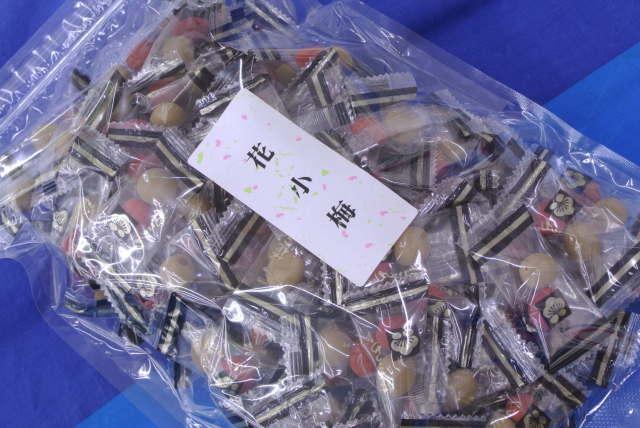 花小梅(たっぷり500g)お得なカリカリ小梅!2粒入り個包装タイプ♪おつまみ小梅はこれ!【送料込】_おつまみ小梅、500g個包装たっぷりパック~