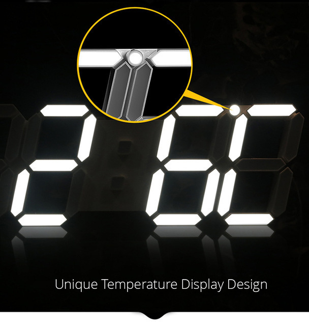新品 ウォールクロック ブルー 選べる4色 デジタル LED インテリア Numbers 壁掛け時計 Wall ClOA53_画像4