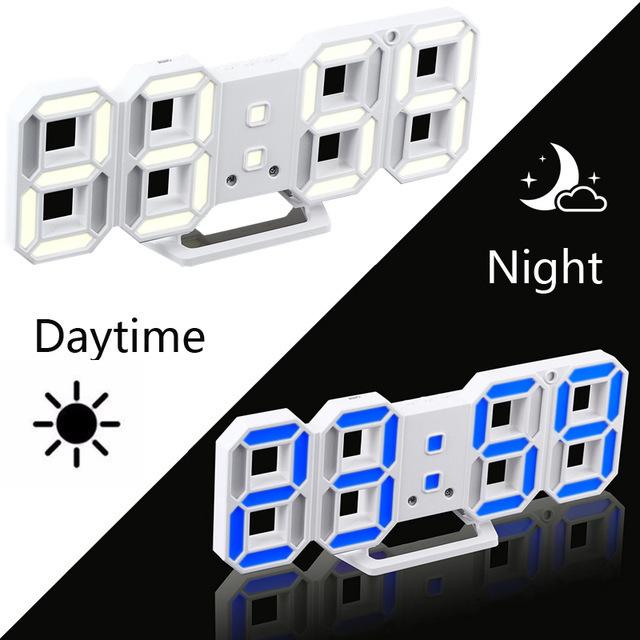 新品 ウォールクロック ブルー 選べる4色 デジタル LED インテリア Numbers 壁掛け時計 Wall ClOA53_画像2