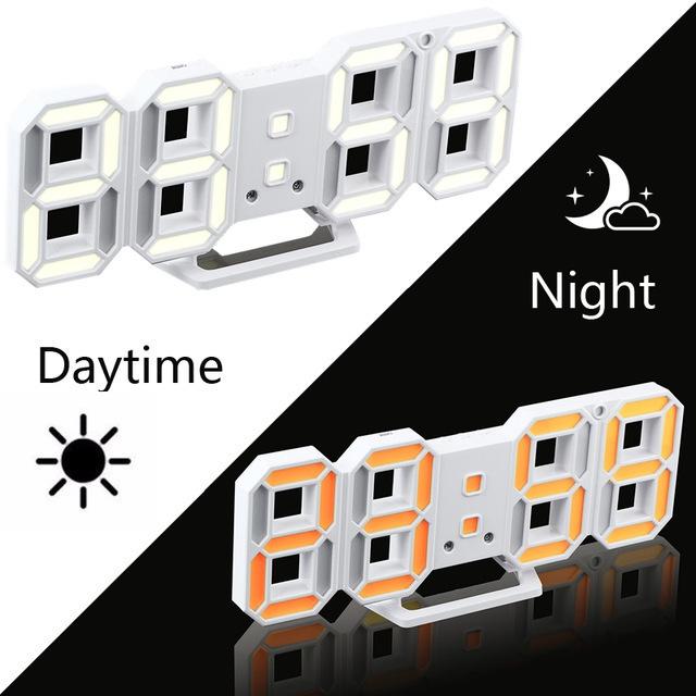 新品 ウォールクロック ブルー 選べる4色 デジタル LED インテリア Numbers 壁掛け時計 Wall ClOA53_画像3