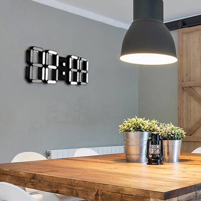 新品 ウォールクロック ブルー 選べる4色 デジタル LED インテリア Numbers 壁掛け時計 Wall ClOA53_画像6