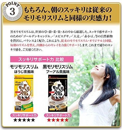 黒モリモリスリム ハーブ健康本舗 h6nKD (プーアル茶風味) 165g(5.5gティーバッグ×30包) (30包)_画像6