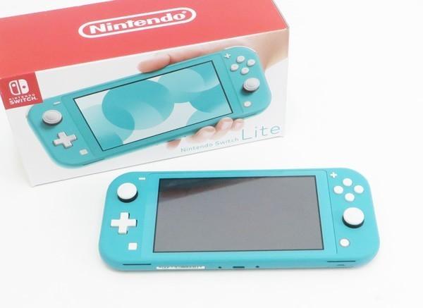 ○美品【任天堂】Nintendo Switch Lite/ニンテンドースイッチライト本体 HDH-S-BAZAA ターコイズ_画像1