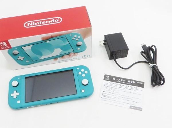 ○美品【任天堂】Nintendo Switch Lite/ニンテンドースイッチライト本体 HDH-S-BAZAA ターコイズ_画像6