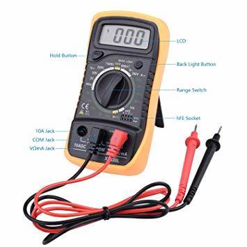 オレンジ セット1 ETEPON 半田ごて 改良型 デジタルマルチメータ付 ON/OFFスイッチ付 温度調整(200~450℃)_画像3