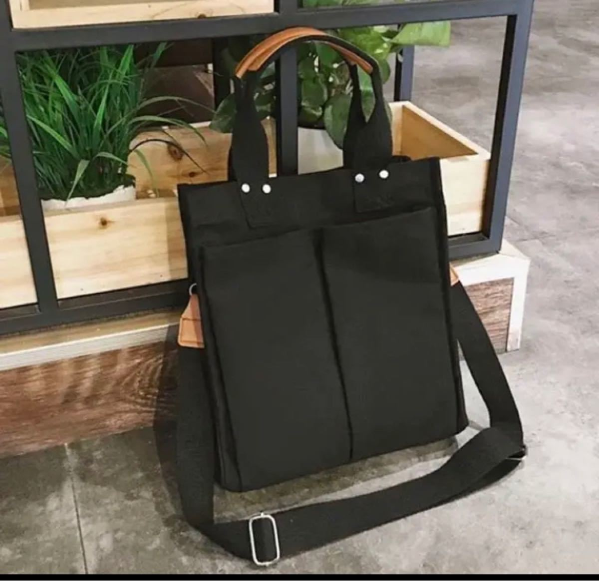 トートバッグ 韓国 黒 キャンバス レディースバッグ ボディーバッグ マザーズバッグ アウトドア リュック
