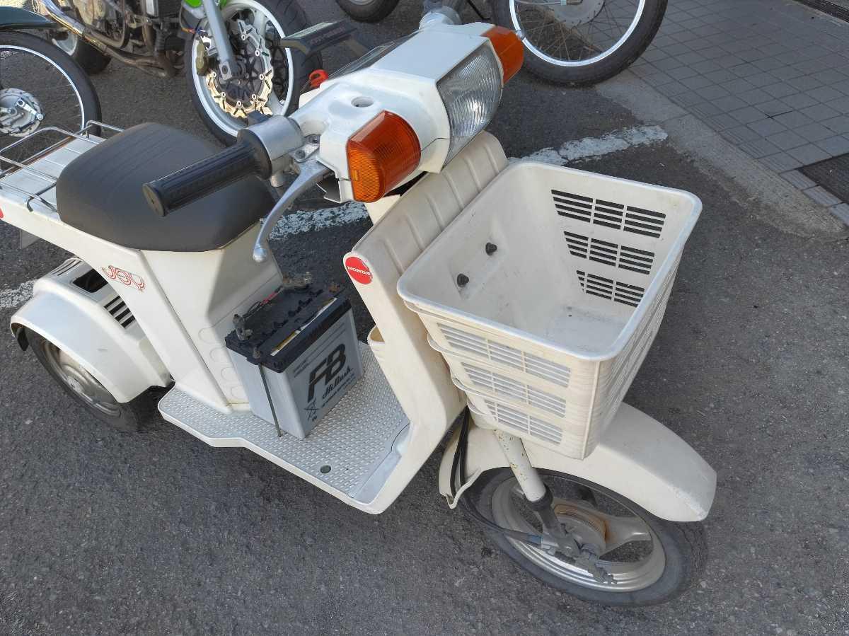 「ホンダ 3輪 ジョイ 希少昭和のスクーター 実働 自賠責保険付 エンジン異音あり ベース車 」の画像1