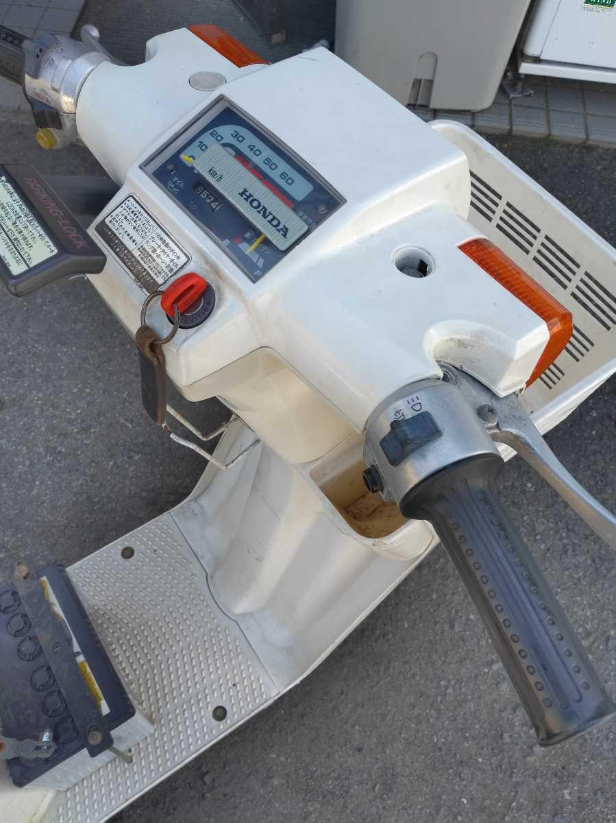 「ホンダ 3輪 ジョイ 希少昭和のスクーター 実働 自賠責保険付 エンジン異音あり ベース車 」の画像3