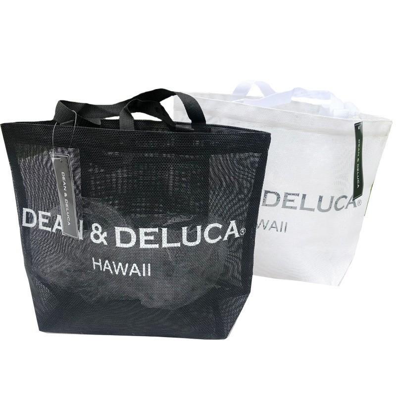 ハワイ限定★ DEAN&DELUCA ディーン&デルーカ トートバッグ エコバッグ サマーバッグ 新品 ブラック
