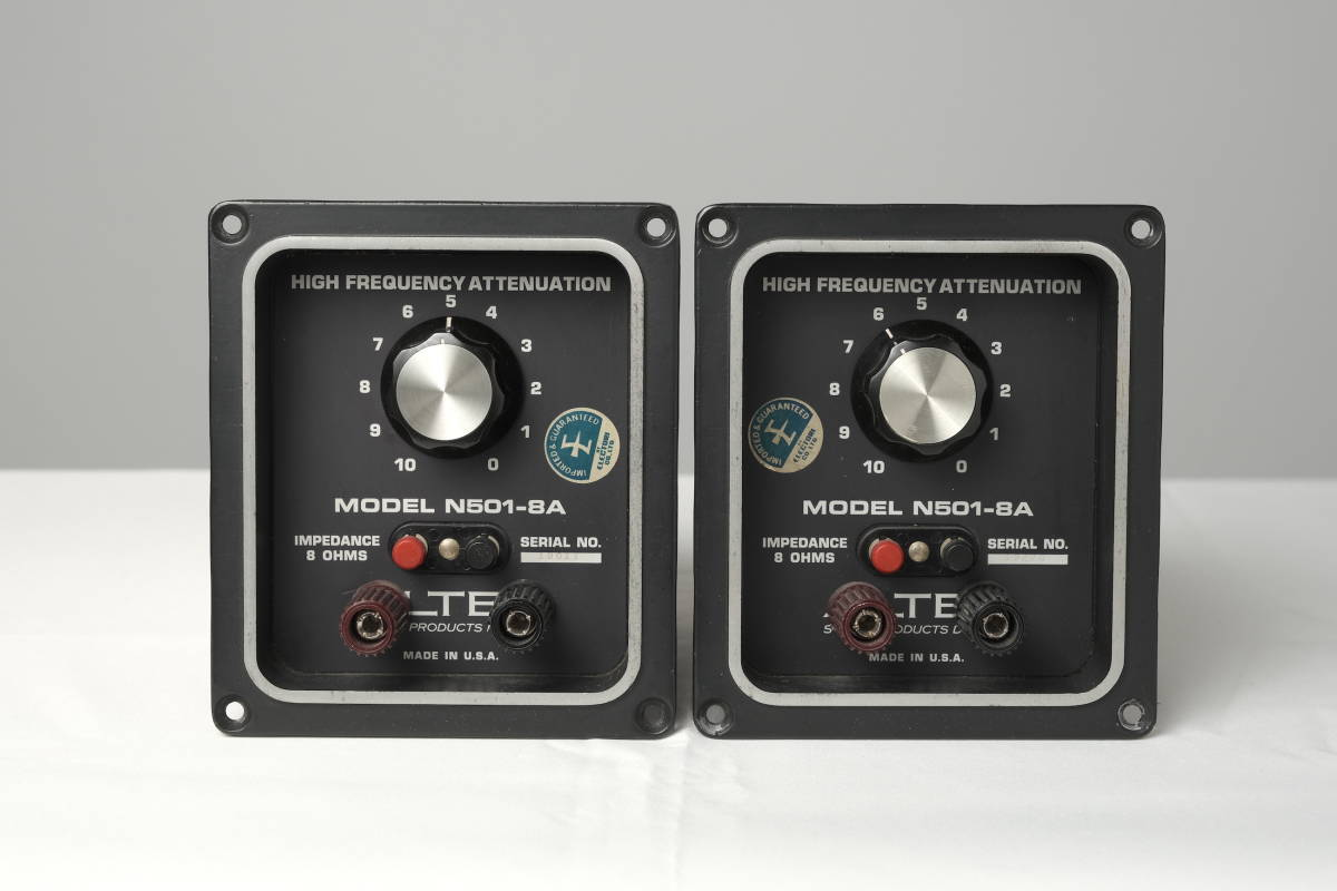 コンデンサー交換、ボリューム清掃別途承ります ALTEC アルテックネットワーク N501-8A 中古動作品  500Hz8Ω A7ペア