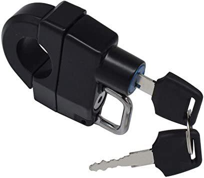 汎用 ヘルメットロック ヘルメットホルダー バイク ハンドル スクーター パイプ 防犯 鍵 キー 盗難防止 直径 22mm 25_画像2