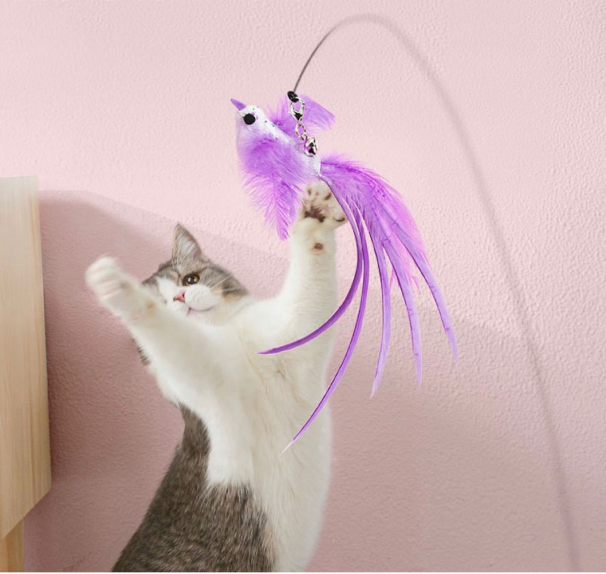 猫のおもちゃ 可愛い鳥のワイヤー猫じゃらし 猫じゃらし 猫おもちゃ