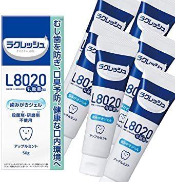 新品50g×6個セット ジェクス L8020乳酸菌 ラクレッシュ 歯みがきジェル (6個セット)73MB_画像1