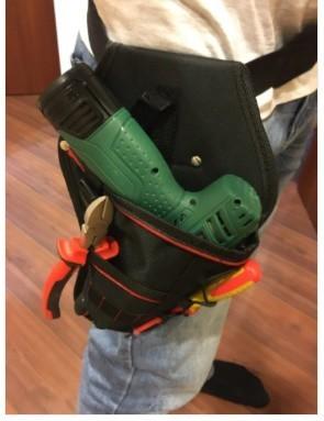Da473☆ 多機能 防水 ドリルホルスター 工具腰袋 ウエストツールバッグ ドライバー用  ポーチバッグ_画像7