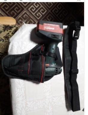 Da473☆ 多機能 防水 ドリルホルスター 工具腰袋 ウエストツールバッグ ドライバー用  ポーチバッグ_画像8