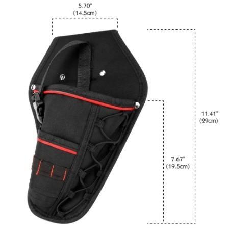 Da473☆ 多機能 防水 ドリルホルスター 工具腰袋 ウエストツールバッグ ドライバー用  ポーチバッグ_画像3