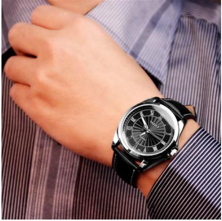 Da393☆ 高級時計男性メッシュ超薄型ステンレス鋼クォーツ腕時計男性時計リロイ hombre レロジオ masculino_画像5
