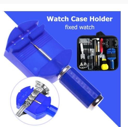 Da269:腕時計修理工具セット 147点セット 時計工具 電池交換 ベルト交換 バンドサイズ調整 時計修理ツール バネ外し 裏蓋開け_画像5